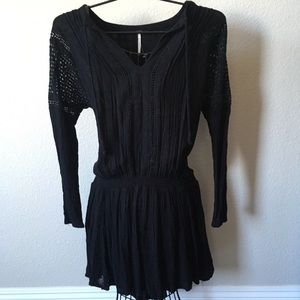 🌸Free People Boho black dress - NEW!🌸